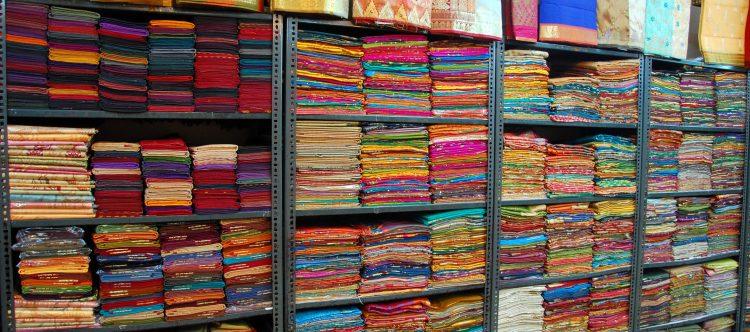Saris en Kanchipuram